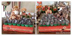 Festa artesanal - Safari Bandejas forradas com tecido http://www.casa18.com.br