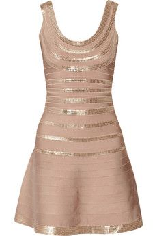 Hervé Léger Sachie sequined bandage dress | THE OUTNET