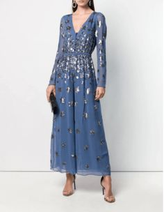 Shop online blue Temperley London Starlet jumpsuit as well as new season, new arrivals daily. Phenomenal luxury selection, get it now with quick Global Shipping or Click & Collect orders. London Fashion Weeks, Fashion Terms, Designer Jumpsuits, Vestido Casual, Temperley, Ideias Fashion, Women Wear, Gowns, Fashion Design