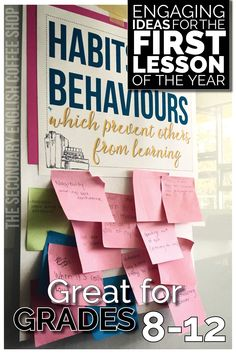 Three great free lesson plans for the first class of the year; a great way to engage students and set the tone for learning! Classroom Norms, High School Classroom, High School Students, Classroom Hacks, English Classroom, Classroom Organization, High School Activities, First Day Of School Activities, Professor