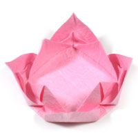 easy origami lotus flower