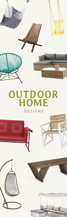 Summer is here: Time to live Outside! Modern Outdoor Furniture | #decor #design | via @dotandbo