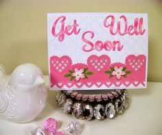 Ann Greenspan's Crafts: Cheery Get Well Soon card
