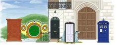 Doors to Narnia,  Hobbiton, 221-B Baker Street, something to do w/ Monsters Inc (wtf), Hogwarts & the TARDIS