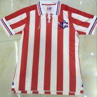 e4e264a1427 Chivas 110th Anniversary Red White Stripe Soccer Jersey Cheap Football  Shirts