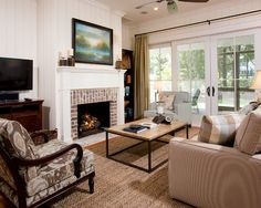 Brick Fireplace Surround Design, Pictures, Remodel, Decor and Ideas - page 11
