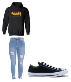 """alldayoutfit"" by ranbe on Polyvore featuring Mode, WithChic und Converse"