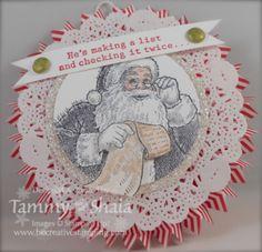 Santa's List Stamp Set, Silver Glimmer Paper, Brights Designer Series Paper Stack, Glimmer Brads