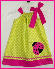 Super Cute Ladybug applique dress Apple by LilBitofWhimsyCoutur