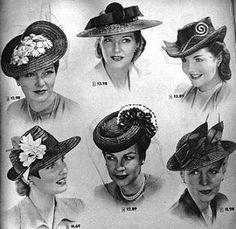 Fotos de Fifties Style - 50 s files on We Heart It. Millinery HatsFascinator  HatsFascinators1940s ... 5cea8fd1645