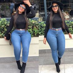 Get the best look of creative latest designs and african fashion styles that are recently trendy and . Thick Girls Outfits, Curvy Girl Outfits, Cute Casual Outfits, Chic Outfits, Plus Size Outfits, Fall Outfits, Fashion Outfits, Fashion Styles, Jeans Fashion