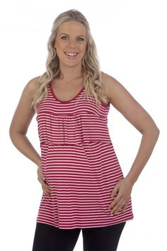 Ninth Moon – Frill Breastfeeding Tank (Navy and White Only) $59.99