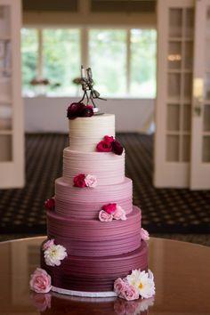 Purple ombre wedding cake // found on Modern Jewish Wedding Blog // Photo: Coppersmith Photography