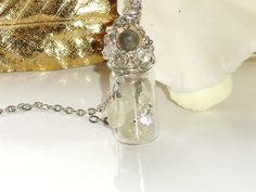 Dream Time wirewrapped vial pendant by TheFloatingGardens on Etsy, $28.00