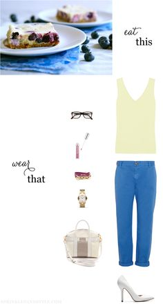 Eat This, Wear That: Lemon yellow and blue blueberry