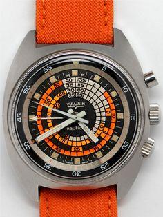 Vulcain Cricket Nautical Alarm Diver circa 1970