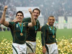 Jaque Fourie, Bakkies Botha et Bryan Habana -Springboks Shelly Ann Fraser, South African Rugby, Sport 2, Rugby Players, Serena Williams, Lionel Messi, Real Men, Michael Jordan, My Hero