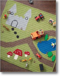 Crochet play mat - Moo would love this