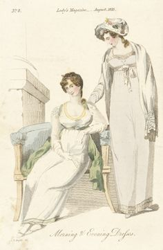 August 1813, England - Morning and Evening Dresses