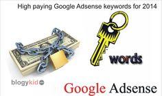 High paying Google Adsense keywords for 2014