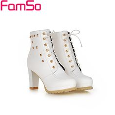 33.43$  Buy now - http://alixss.shopchina.info/go.php?t=32466263791 - Size34-43 2017 New Sexy Women Boots Autumn High Heels Wedding Shoes Platforms Pumps Winter Female Warm Ankle Boots ZWB2655 33.43$ #buyininternet