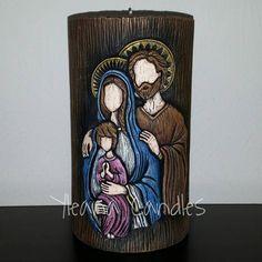 Santos Fondant Toppers, Holy Family, Catholic, Candle Holders, Sacramento, Clay, Nativity Scenes, Crafts, Pasta
