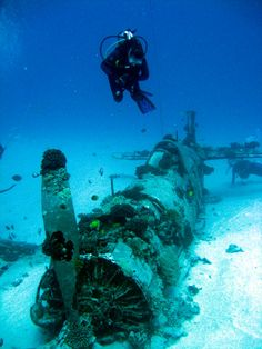 The corsair Plane wreck off Oahu