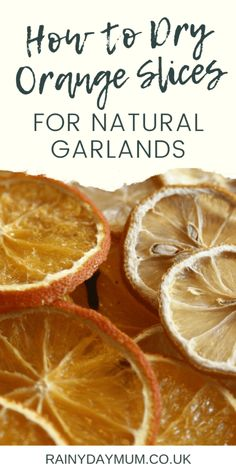 How to dry the perfect orange and lemon slices for natural garlands, wreaths and Christmas decorations. So easy and much prettier than the fake plastic ones in the store. Natural Christmas Ornaments, Orange Ornaments, Handmade Christmas Decorations, Christmas Crafts For Kids, All Things Christmas, Diy Christmas, Holiday Decorating, Festive Crafts, Xmas
