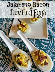 You Brew My Tea: Jalapeno Bacon Deviled Eggs
