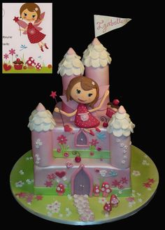 https://flic.kr/p/cWj6aW | 48030 fairy castle matching invite CREATIVE CAKE ART FIRST BIRTHDAY CHRISTENING AND BABYSHOWER CAKES