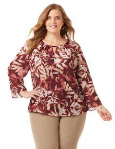 4ed9c7169e9 Black Label Shadow Blooms Top. Plus Size ShirtsPlus Size BlousesCatherines  ...