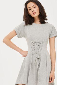 85d300097e16 Corset Flippy Tunic Dress - Dresses - Clothing - Topshop New Wardrobe