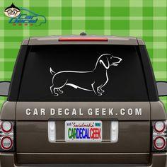 Cute Dachshund Dog Car Window Decal Sticker Laptop by CarDecalGeek
