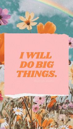 I will do big things dailyquotes dailyinspiration motivationalquotes motivationmonday success successquotes 222787512804455574 Cute Quotes, Happy Quotes, Positive Quotes, Motivational Quotes, Inspirational Quotes, Positive Vibes, Collage Mural, Photo Wall Collage, Photo Collages