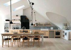 Cucina con soffitto basso - Cucina senza pensili