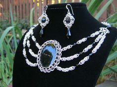 beautiful onyx necklace