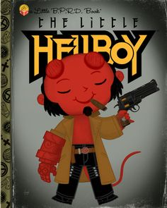 giclee x 10 incheslimited edition of and numbered on back of print Inspired by Hellboy Cartoon Books, Cartoon Posters, Comic Books, Art Posters, Comic Art, Movie Posters, Red Right Hand, Film Books, Little Golden Books