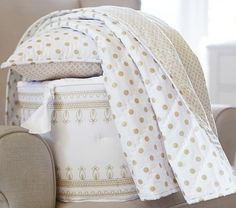 Gold Dot Nursery Bedding | Pottery Barn Kids