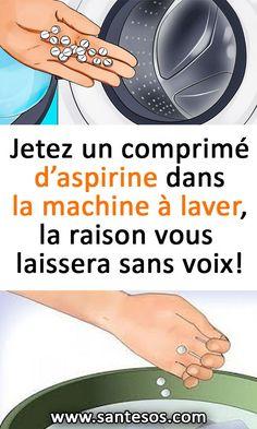 Jetez un comprimé d'aspirine dans la machine à laver, la raison vous laissera sans voix! #aspirine #compriméd'aspirine #machineàlaver #nettoyage #astucesmaison