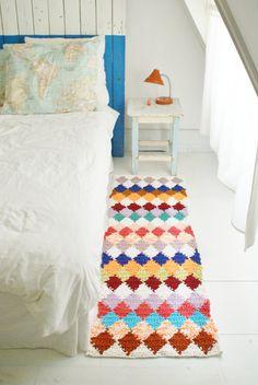 wood & wool boucherouite rug por woodwoolstool en Etsy
