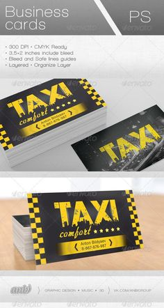 Taxi Comfort Business Card