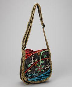 Look what I found on #zulily! Red & Blue Flower Shoulder Bag #zulilyfinds
