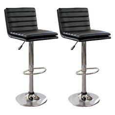 The AmeriHome Modern Ripple Back Two Piece Bar Stool Set has a modern, causal style that would look great at the kitchen island, or the basement bar. With a padded seat and back in a stylish ripple pa