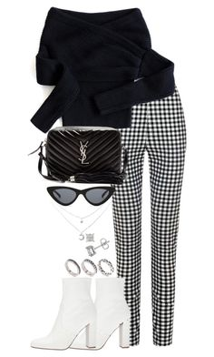 """Untitled #5339"" by theeuropeancloset on Polyvore featuring Chicwish, Yves Saint Laurent, Le Specs, Steve Madden and ASOS"