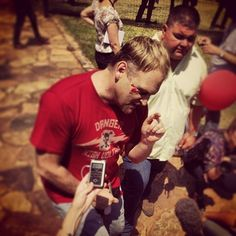 "Red, Black and White | The Red October march to protest ""the oppression of and violence against White South Africans"" took place in Pretoria on Thursday led by Afrikaans icons, Steve Hofmeyr and Sunette Bridges. The campaign was widely criticised for its divisive stance. Photo: Instagram/ Mail & Guardian"