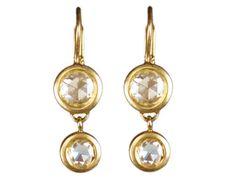 18K Gold Indian Diamond Drop Earrings