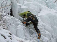 Tim H Ice Climbing in Wales