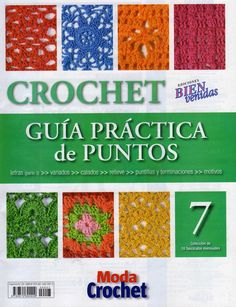 crochet stitch No 7 - book designs) Crochet Cord, Crochet Books, Love Crochet, Crochet Motif, Crochet For Kids, Beautiful Crochet, Crochet Patterns, Knitting Magazine, Crochet Magazine