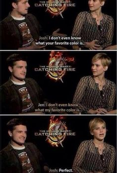 Josh and Jennifer Lawrence The Hunger Games, Hunger Games Memes, Hunger Games Fandom, Hunger Games Catching Fire, Hunger Games Trilogy, Jennifer Lawrence Funny, Jennifer Lawrence Hunger Games, Josh Hutcherson, Big Sean