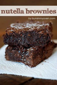 Nutella Brownies | 20 Recipes That Won Pinterest In 2013